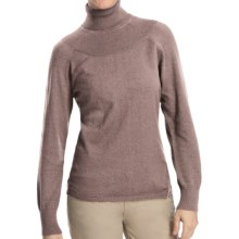 Woolrich Windward Turtleneck - Long Sleeve (For Women) in Coco Bean Heather - Closeouts