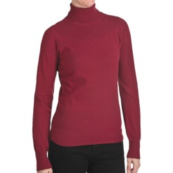 Woolrich Windward Turtleneck - Long Sleeve (For Women) in Heirloom Red Heather