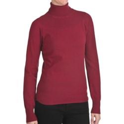 Woolrich Windward Turtleneck - Long Sleeve (For Women) in Heirloom Red Heather