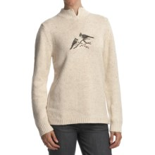 Woolrich Winter Bird Sweater (For Women) in Deep Ecru Heather - Closeouts