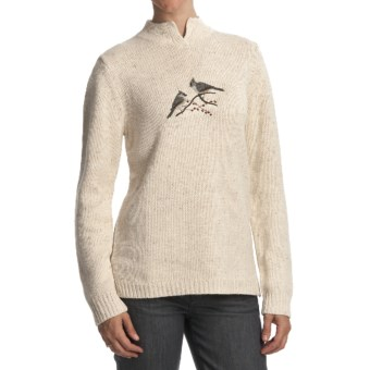 Woolrich Winter Bird Sweater (For Women) in Deep Ecru Heather