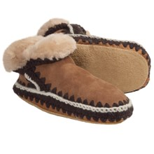 Woolrich Winter Haven Boot Slippers - Suede, Shearling Lining (For Women) in Chestnut - Closeouts