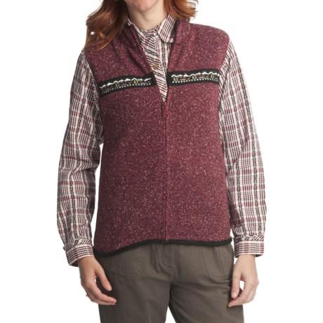 Woolrich Winter Scene Vest - Zip Front (For Women) in Ruby