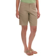 Woolrich Wood Dove Shorts - Curved Fit (For Women) in Khaki - Closeouts