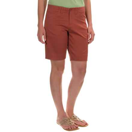 Woolrich Wood Dove Shorts - Curved Fit (For Women) in Spice - Closeouts