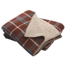 "Woolrich Woodbury Wool Reversible Throw Blanket - 50x68"" in Chestnut - Closeouts"
