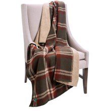 "Woolrich Woodbury Wool Reversible Throw Blanket - 50x68"" in Olive - Closeouts"