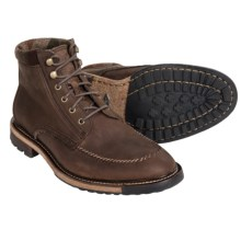Woolrich Woodwright Leather Boots (For Men) in Bitter Chocolate/Camo Wool - Closeouts