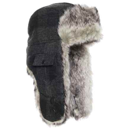 Woolrich Wool Arctic Trooper Hat (For Men) in Charcoal - Closeouts
