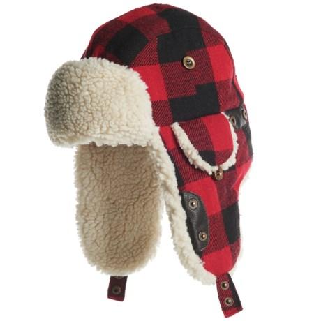 Woolrich Wool Blend Aviator Hat (For Men) in Red/Black