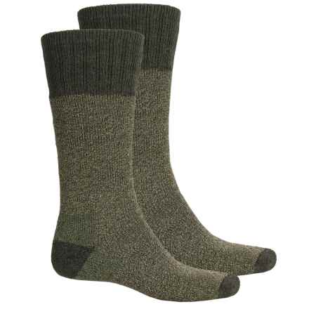 Woolrich Wool Blend Marl Socks - 2-Pair, Mid Calf (For Men) in Olive - Closeouts