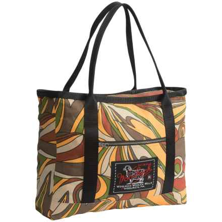Woolrich Woolen Mills Tote Bag in Brown/Yellow/Multi - Closeouts