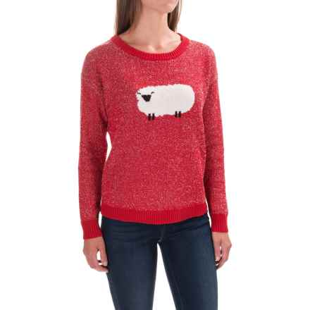 Woolrich Wooly Sheep Motif Sweater - Crew Neck (For Women) in Old Red - Closeouts