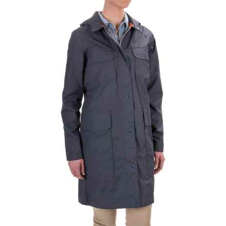 Woolrich WPB Cocoon Rain Coat - Waterproof (For Women) in Steel Blue - Closeouts
