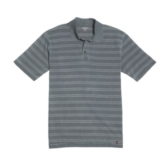 Woolrich Yarmouth Polo Shirt - Cotton Rich, Short Sleeve (For Men) in Navy