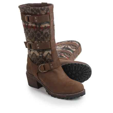 Woolrich Yukon Junction Boots - Leather-Wool (For Women) in Bitter Chocolate/Archival - Closeouts
