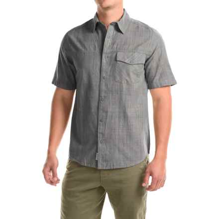 Woolrich Zephyr Ridge Shirt - Snap Front, Short Sleeve (For Men) in Steel Gray - Closeouts