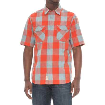 Woolrich Zephyr Ridge Space-Dyed Check Shirt - Short Sleeve (For Men) in Fiesta Red - Overstock