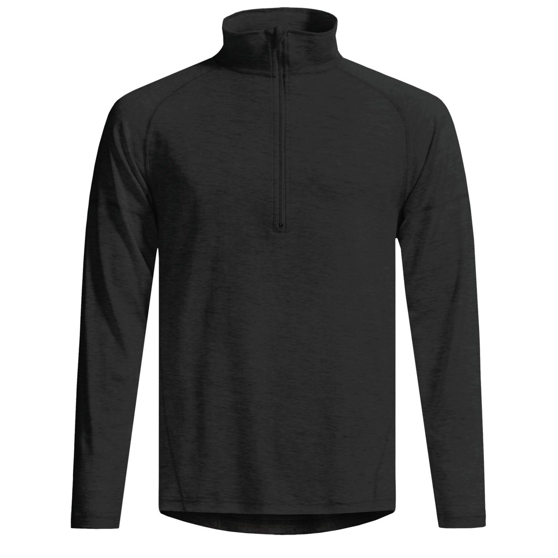 Woolskins by terramar long underwear shirt mock for Long sleeve black turtleneck shirt