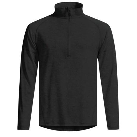 Woolskins by Terramar Long Underwear Shirt - Mock Turtleneck, Long Sleeve (For Men) in Black