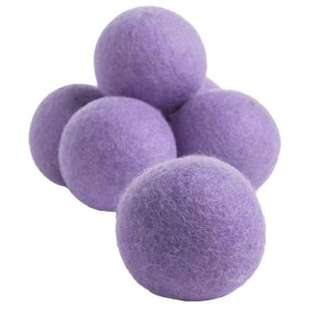 Woolzies Dryer Balls - 6-Pack in Lavender - Overstock