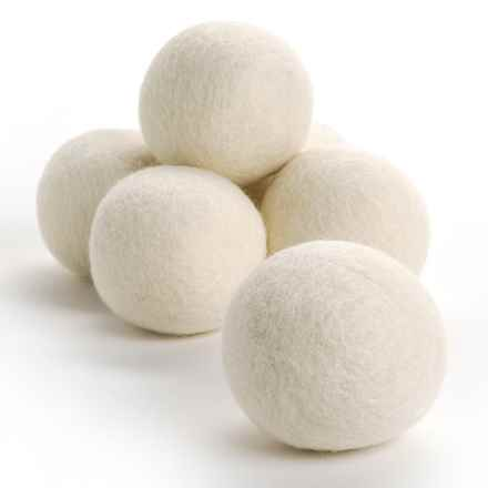 Woolzies Dryer Balls - 6-Pack in White - Overstock
