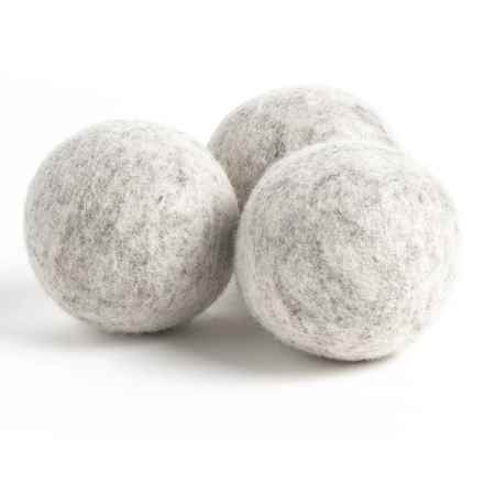 Woolzies Dryer Balls - New Zealand Wool, 3-Pack in Grey - Closeouts