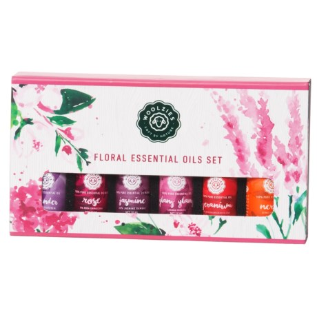 Woolzies Floral Essential Oil Set - Set of 6 in See Photo