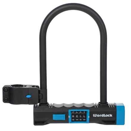 Wordlock U-Lock Bike Lock - 15mm Word Combo in Blue - Closeouts