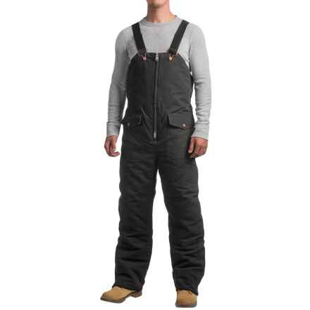 Work Horse Washed Bib Overalls - Insulated (For Men) in Black - Closeouts
