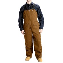 Work Horse Washed Bib Overalls - Insulated (For Men) in Brown - Closeouts