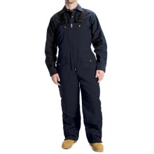 Work Horse Washed Bib Overalls - Insulated (For Men) in Navy - Closeouts