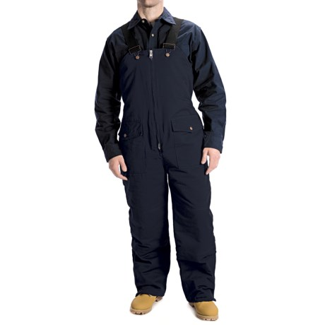 Work Horse Washed Bib Overalls - Insulated (For Men) in Navy