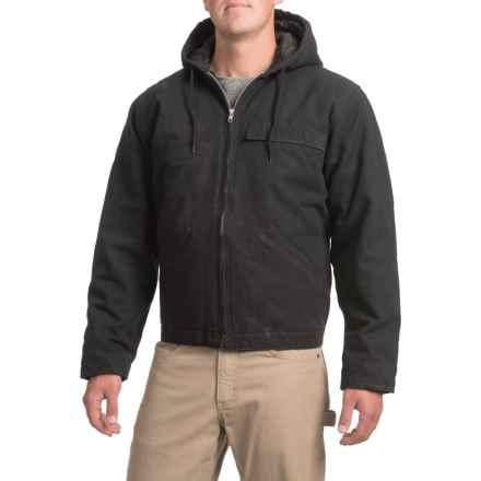 Work Horse Washed Hooded Jacket - Insulated (For Men) in Black - Closeouts