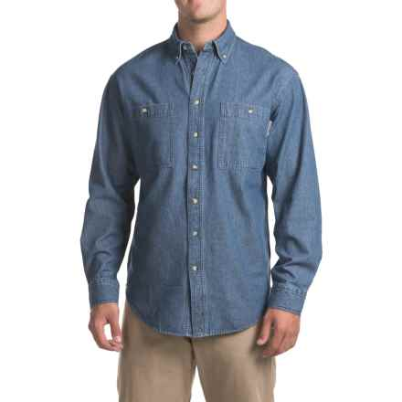 Work King Denim Shirt - Long Sleeve (For Men) in Denim - Closeouts