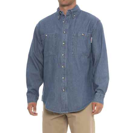 Work King Denim Shirt - Long Sleeve (For Men) in Denim - Closeouts
