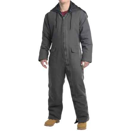 Work King Duck Coveralls - Insulated (For Men) in Grey - Closeouts