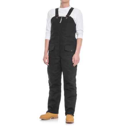 Work King Duck Quilt-Lined Bib Overalls - Insulated (For Men) in Black - Closeouts