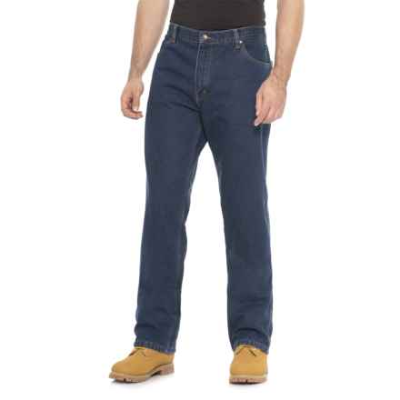 Work King Fleece-Lined Jeans (For Men) in Denim - Closeouts