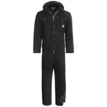 Work King Heavy-Duty Twill Coveralls - Insulated, Side Zips, Removable Hood (For Big and Tall Men) in Black - 2nds