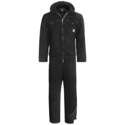 Work King Heavy-Duty Twill Coveralls - Insulated, Side Zips, Removable Hood (For Big and Tall Men) in Navy