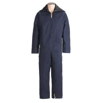 Work King Heavyweight 2-Zip Coveralls - Insulated, Full Zip (For Men) in Navy