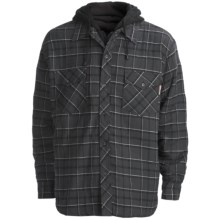 Work King Hooded Flannel Shirt - Quilt-Lined, Long Sleeve (For Men) in Charcoal/Black/White - Closeouts