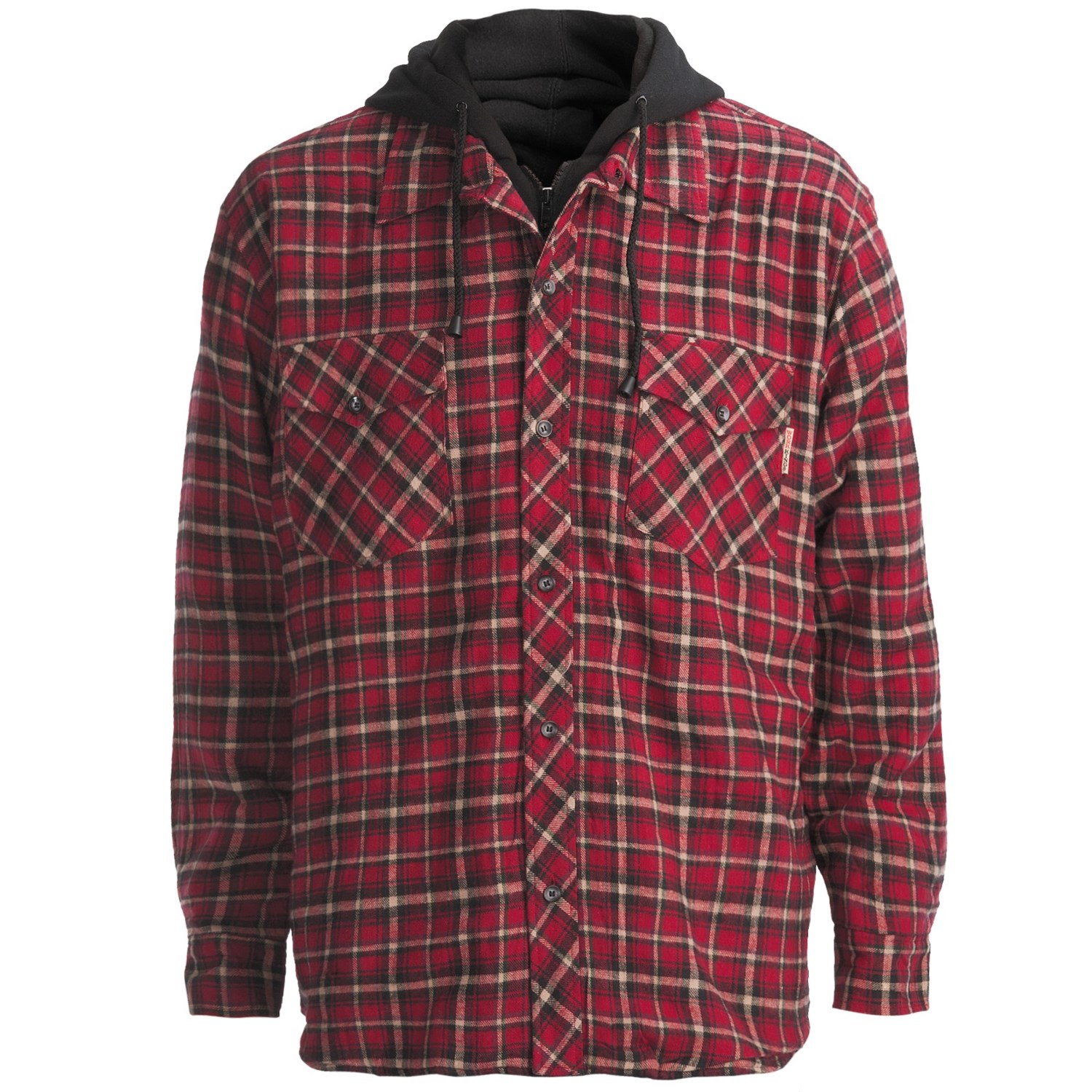 Men flannel lined shirt for Mens insulated flannel shirts
