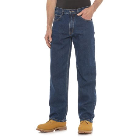 Work King Stonewashed Relaxed Fit Jeans (For Men) in Denim