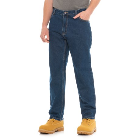 Work King Stonewashed Straight Leg Jeans (For Men) in Denim