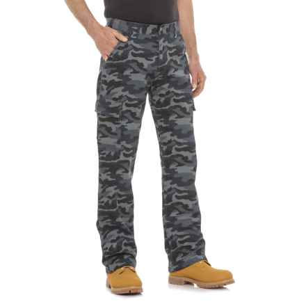 Work King Twill Camo Cargo Pants (For Men) in Navy Camo - Closeouts