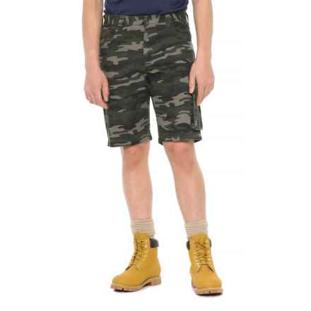 Work King Twill Camo Cargo Shorts (For Men) in Green Camo - Closeouts