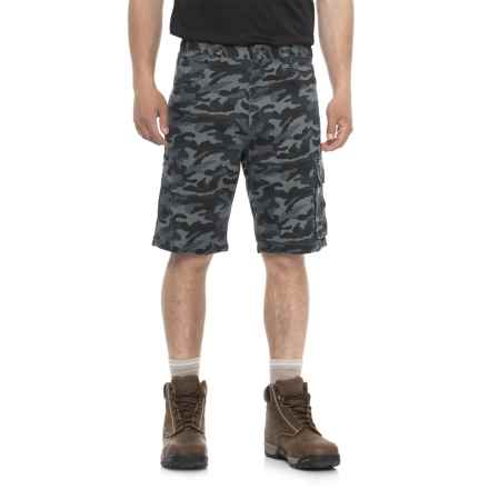 Work King Twill Camo Cargo Shorts (For Men) in Navy Camo - Closeouts