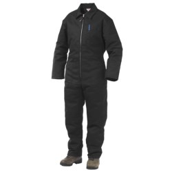 Work King Twill Coveralls - Insulated (For Men) in Navy